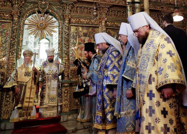 Вселенский патриарх Варфоломей и митрополит Епифаний