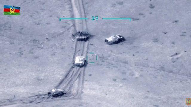 Во время недавней войны в Нагорном Карабахе армянские танки становились мишенью для азербайджанских дронов