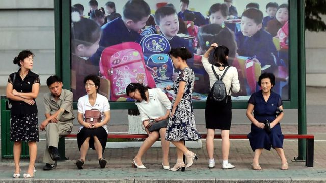 남북정상회담이 열린 지난 9월 18일 평양의 거리 풍경