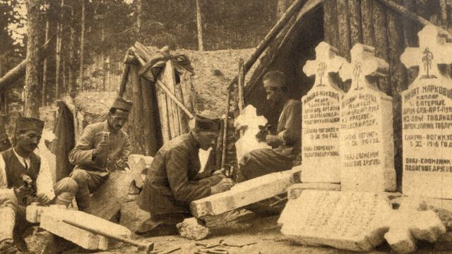 Radnja nadgrobih spomenika drugovima izginulim na Kajmakčalanu
