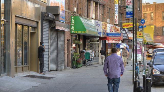 Улица в Брайтон-Бич, Нью-Йорк