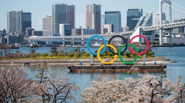 logo da olimpiada em toquio