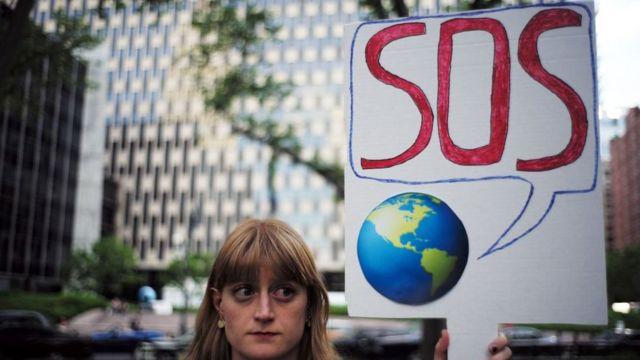 SOS pankartıyla çevreci