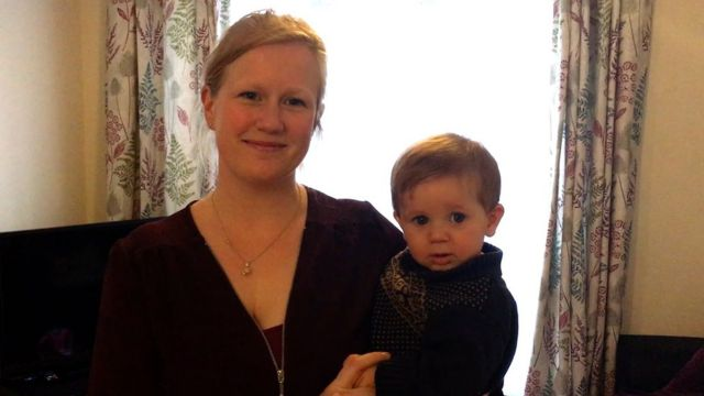 Bex Poole and her son Theo
