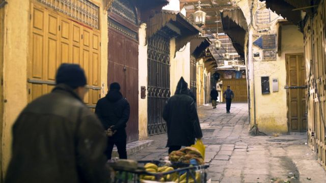 Las calles de Fez, Marruecos.
