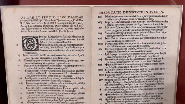 """Las """"95 tesis"""" de Lutero"""