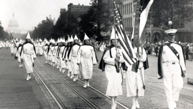 Marcha del KKK en 1928