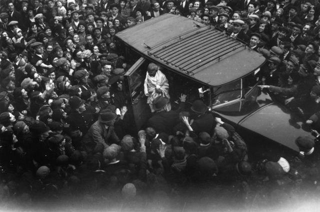 1931లో లండన్లో మహాత్మా గాంధీ