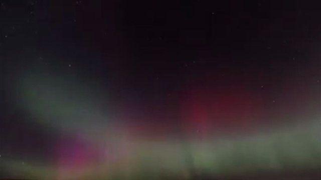 Aurora borealis over Shetland