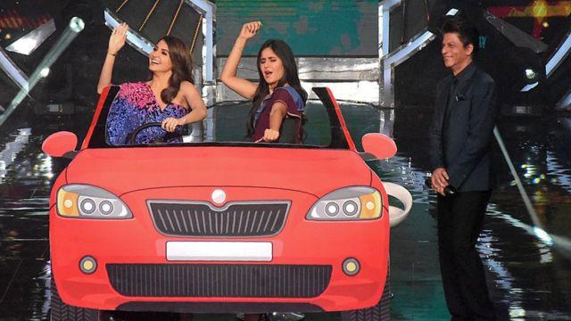 شو کے فائنل میں اپنی فلم 'زیرو' کی تشہیر کے لیے شاہ رخ خان، قطرینہ کیف اور انوشکا شرما نے بھی حصہ لیا
