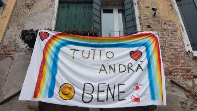 Cartel en casa italiana
