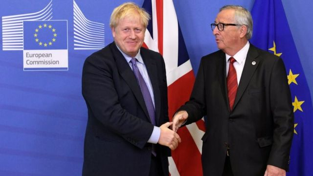 Boris Johnson e Jean Claude Juncker