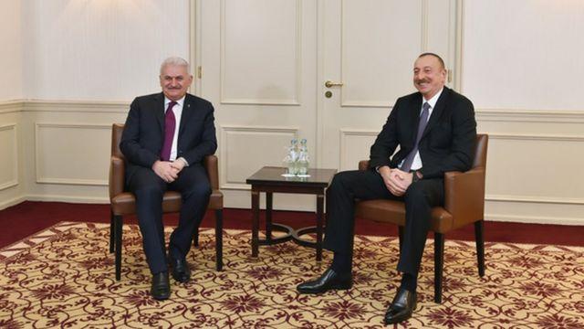 Bu gün Prezident Əliyevin ilk görüşü Türkiyə baş naziri Binali Yıldırımla olub
