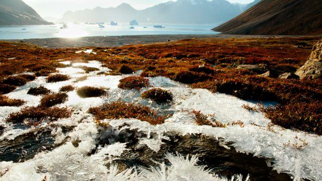 Tierra congelada en Groenlandia