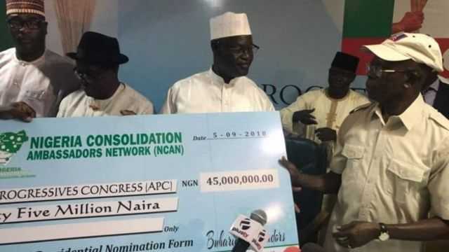 Di group dem wit di 45 million naira cheque