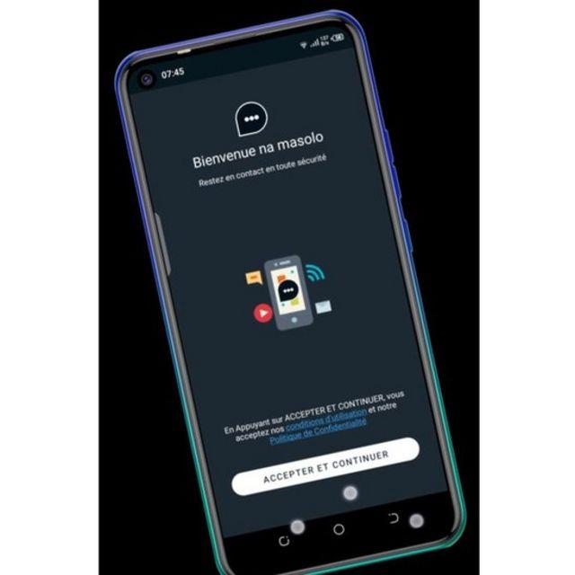 L'interface de l'appli Masolo