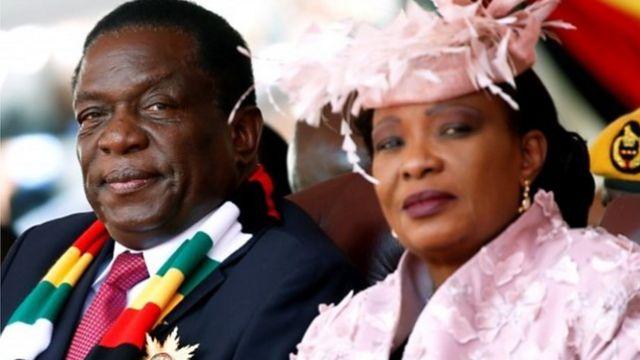 Perezida Mnangagwa n'umukenyezi wiwe