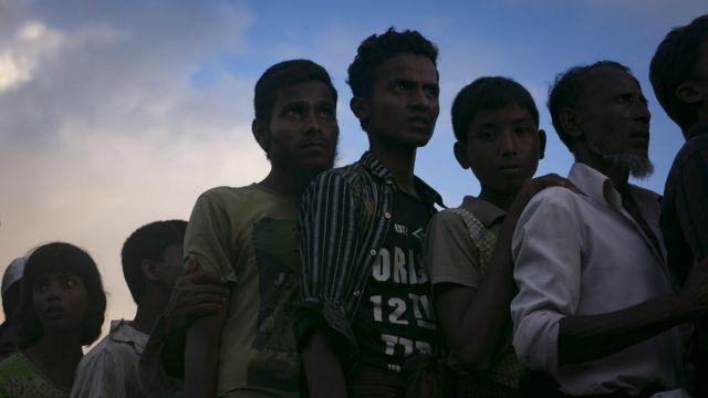 Rohingya que chegaram a Bangladesh