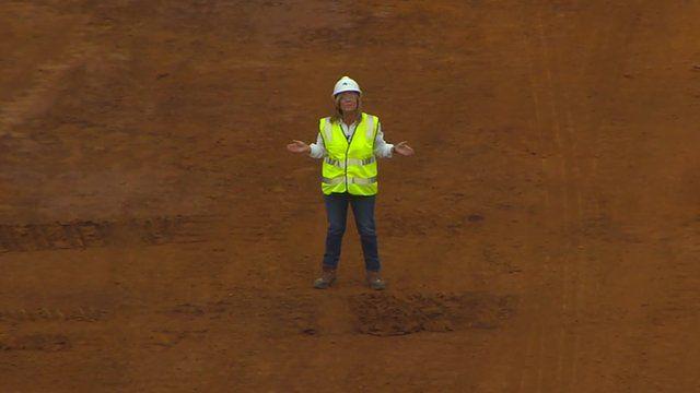 The BBC's Ali Moore at Fortescue Metals' Cloudbreak mine