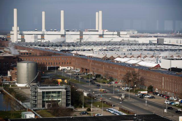 The main plant of German carmaker Volkswagen in Wolfsburg
