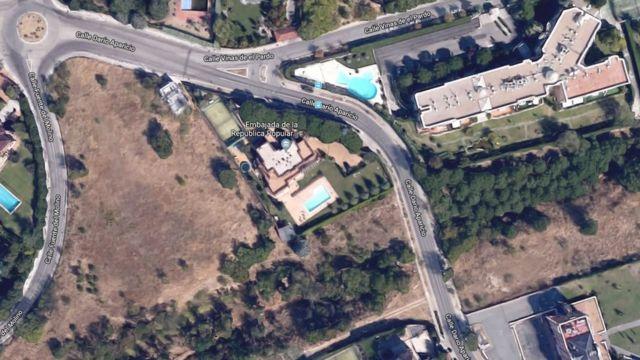 Location of North Korean embassy in Madrid