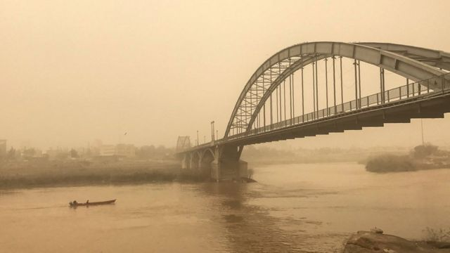 طوفان شن در اهواز