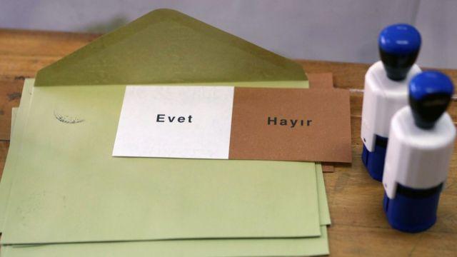 zarf ve oy pusulası