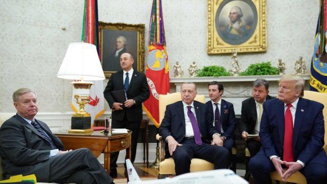 Встреча президентов Трампа и Эрдогана с участием Грэма прошла в Вашингтоне 13 ноября