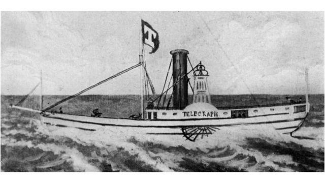 Gravura de 1832 do barco The Telegraph