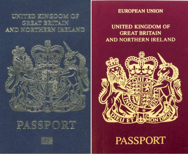 Passaportes do Reino Unido