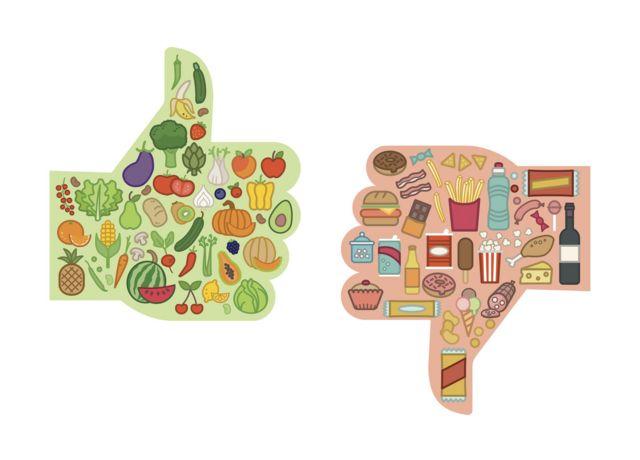 Alimentos buenos y malos