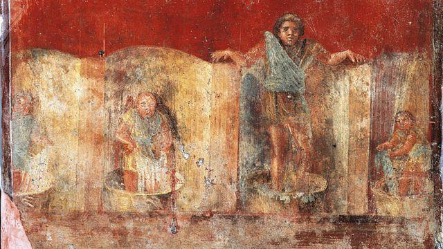 Fullonica de Veranio Ipseo. Civilización romana, siglo I. Pompeya.