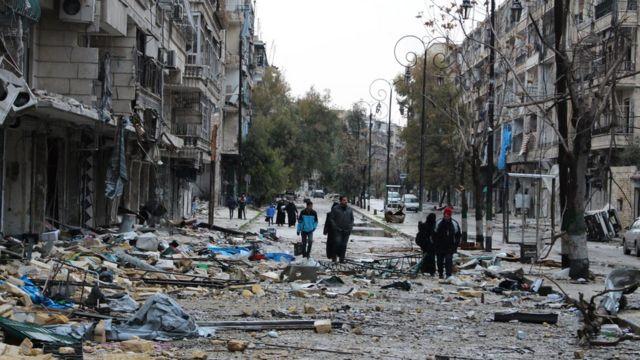 جانب من الدمار في حلب