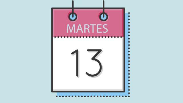Calendario de martes 13