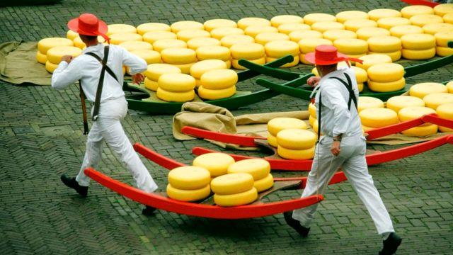 Алкмар называют сырной столицей мира. Здешний рынок сыра - самый старый и самый крупный в Нидерландах
