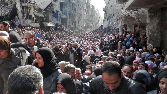 صورة أرشيفية لمخيم اليرموك