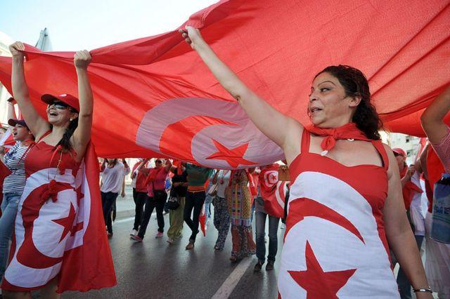 Tunisia women protest - August 13, 201