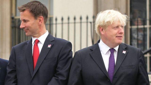Mr Hunt and Mr Johnson in 2018