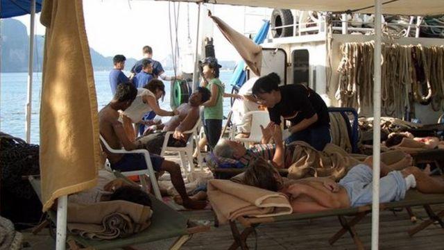 ผู้บาดเจ็บบนเรือ