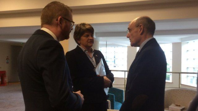 First Minister Arlene Foster and health minister Simon Hamilton attended a summit on the future of health and social care in Northern Ireland