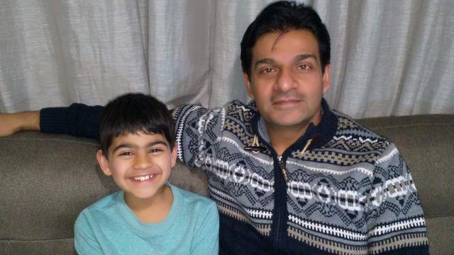 Samir and his dad Mudassir