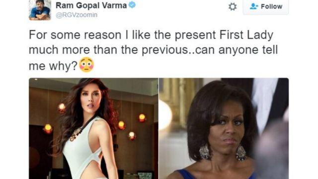 राम गोपाल वर्मा ने मेलानिया ट्रंप पर ट्वीट किया