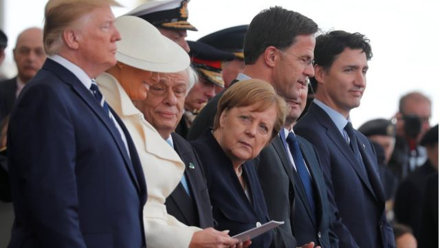 Трамп, Меркель, Трюдо в Портсмуте