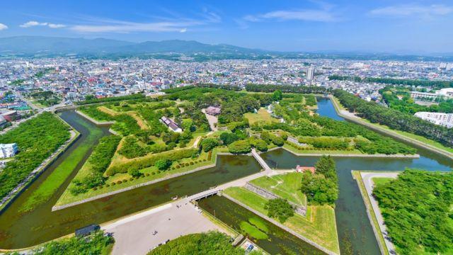 Vista aérea de Hokkaido