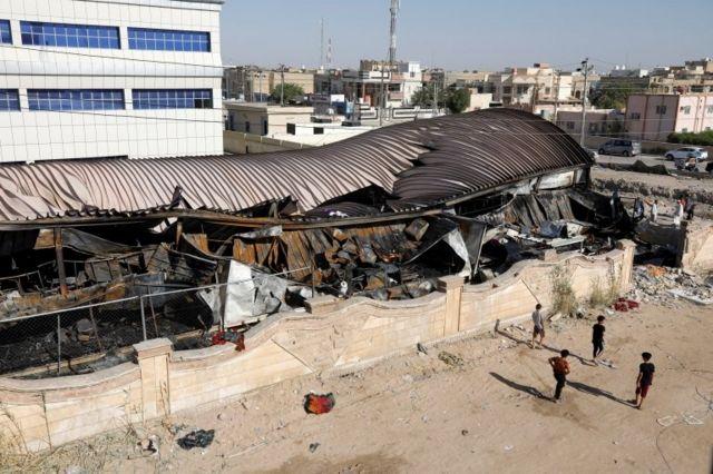 المستشفى بعد الحريق