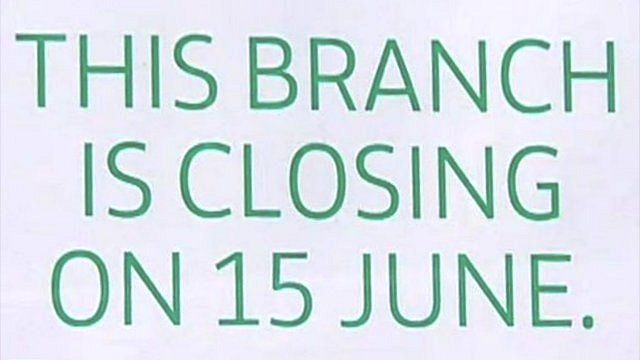 Sign saying This branch is closing on 15th June