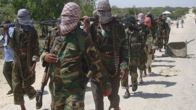 al Shabaab fighters inside Somalia