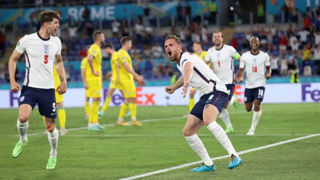 İngiltere gol sevinci