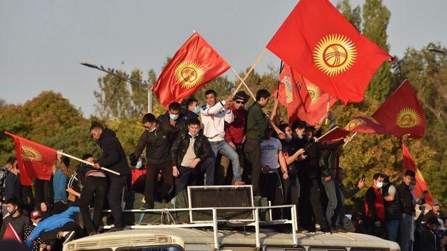 Бишкек, митинг