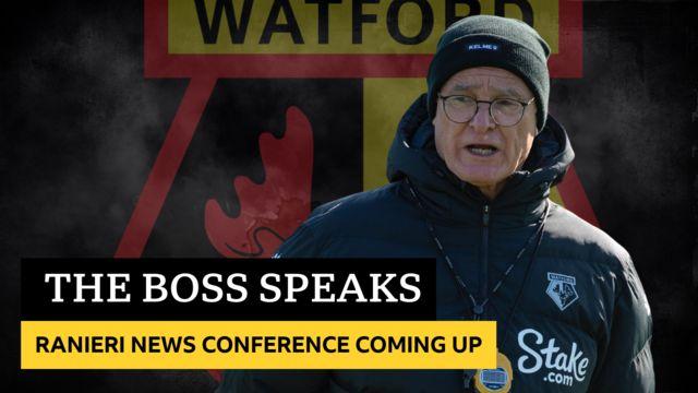 Claudio Ranieri news conference coming up